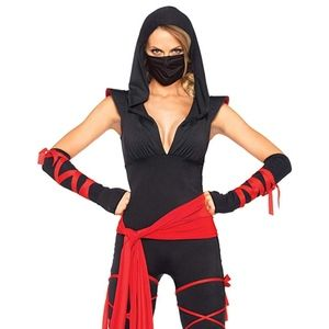 Leg Avenue Women's 5 Piece Deadly Ninja CostumeNWT